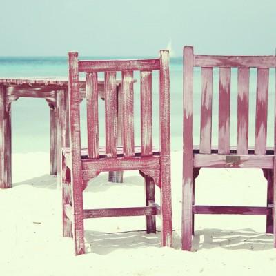 vasara, kėdės